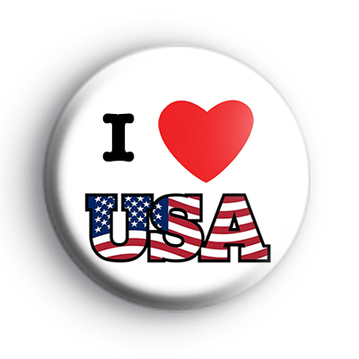 I Love USA Badge