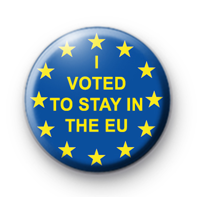 I Voted to Stay in the EU Button Badge