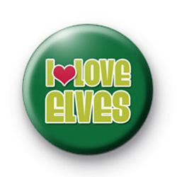 I Love Elves Badges