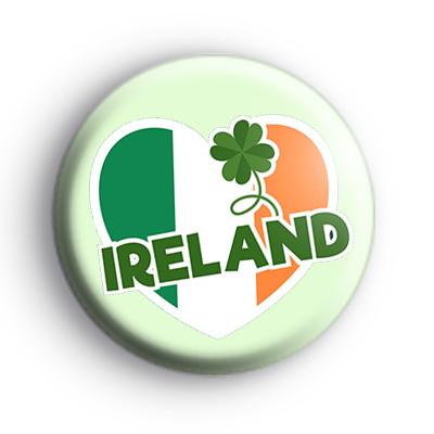 Ireland Irish Heart Flag Badge