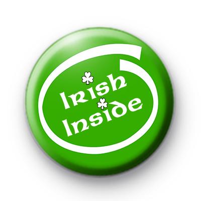 Irish Inside Green Button Badge