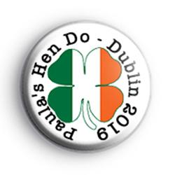 Irish Themed Hen Party Badge