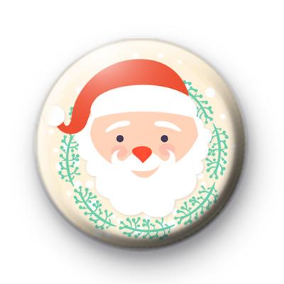 Jolly Festive Santa Claus Button Badge