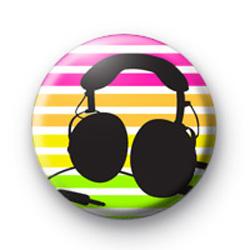 Kool Earphones Button Badge