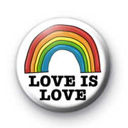 Love is Love Rainbow Badge