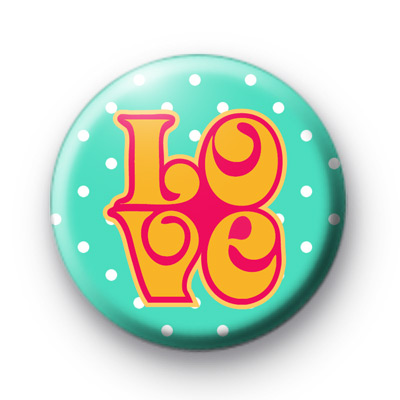 Retro LOVE Button Badges