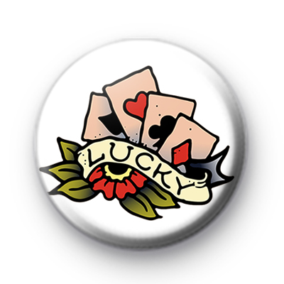 LUCKY Playing Cards Badge