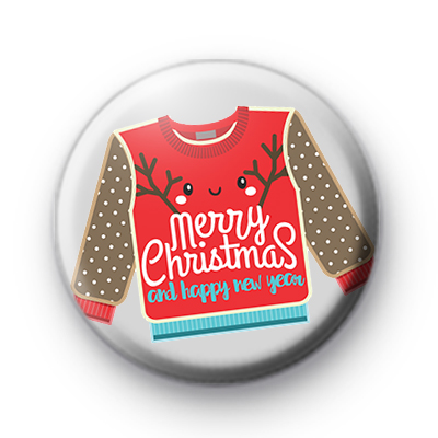 Ugly Merry Christmas Festive Jumper Badge