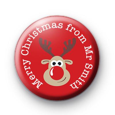 Reindeer Merry Christmas from teacher Badge