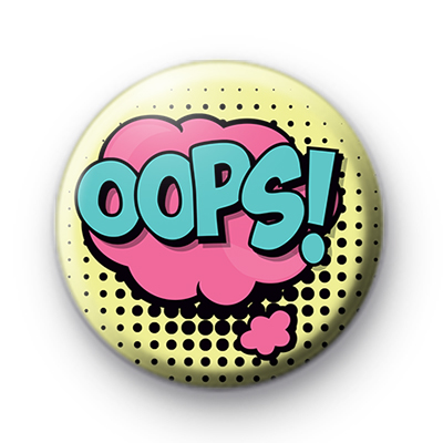 OOPS Speech Bubble Badge