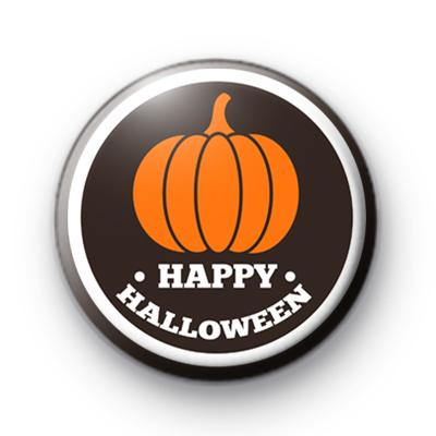 Happy Halloween Pumpkin Button Badge