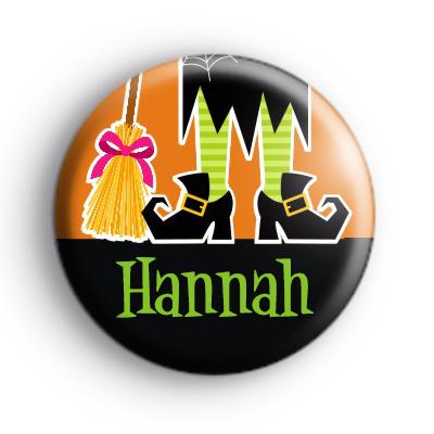 Custom Name Witch Feet Orange Badge