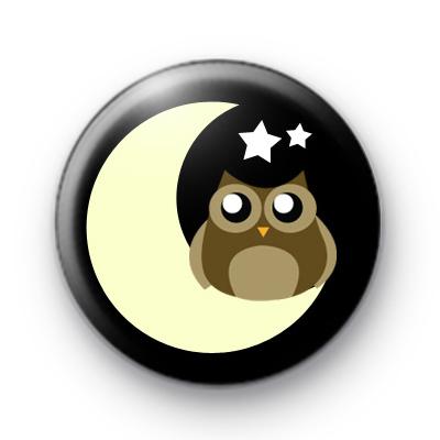 Moon and Stars Owl Badge