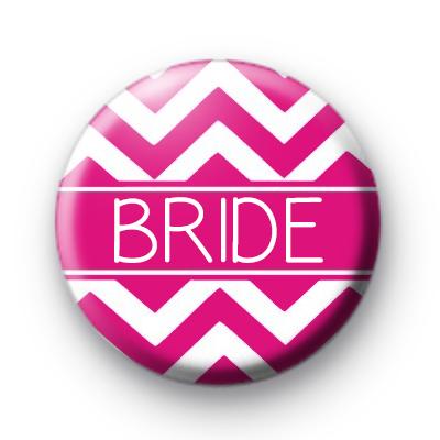 Chevron Pink Bride Badge