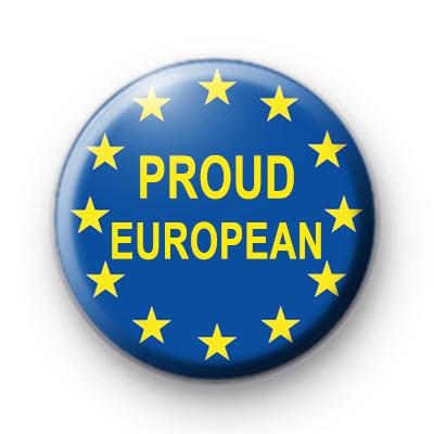 Proud European Button Badge