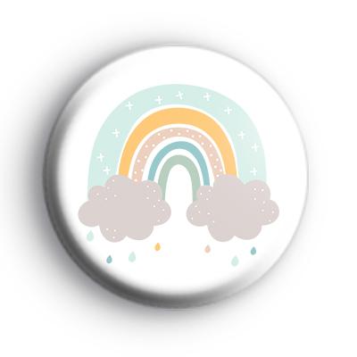 Pastel Rainbow Rain Badge