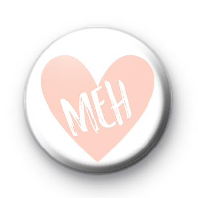 Peach Heart MEH Pin Badge