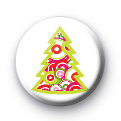 Pink & Green Christmas Tree badges