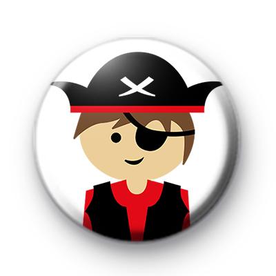 Pirate Boy Sailor Button Badge