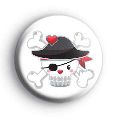 Pirate Skull and Crossbones Badge