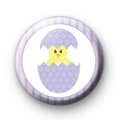 Purple Egg Yellow Chick Badge