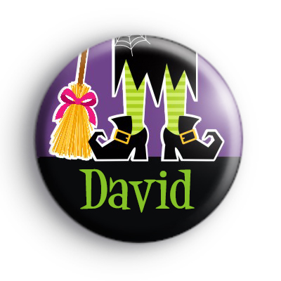 Custom Name Witch Feet Purple Badge