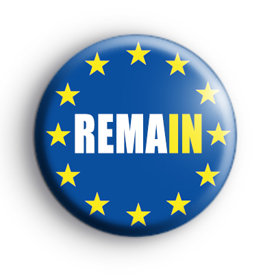 EU Flag Remain Badge