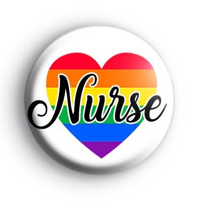 Rainbow Heart Nurse Badge