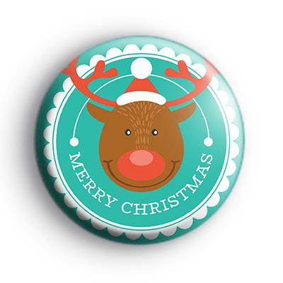 Merry Christmas Reindeer Badge