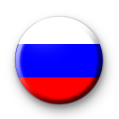 Russian National Flag Button Badge