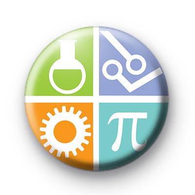 STEM Science Technology Engineering Mathematics badge