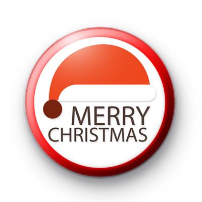 Santa Claus Merry Christmas Hat Badge