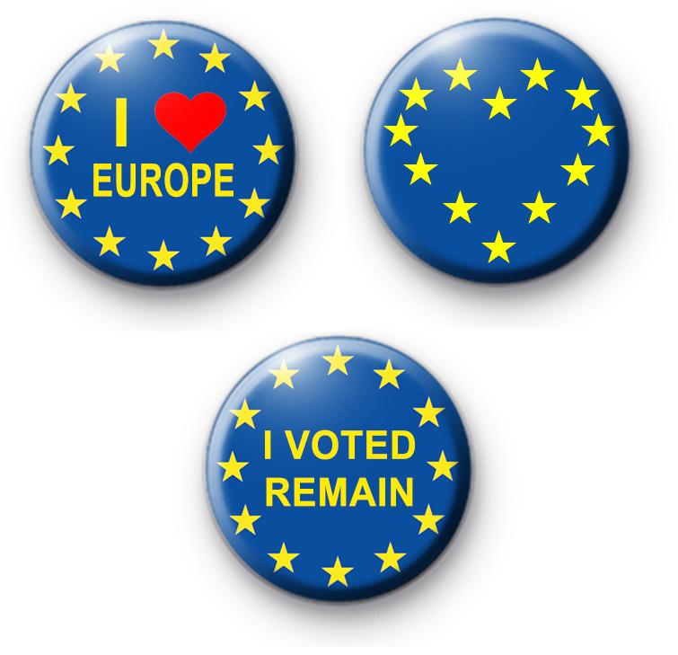 Set of 3 Pro EU European Badges