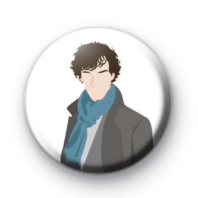 Sherlock Holmes Button Badge