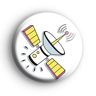 Space Satellite Badge