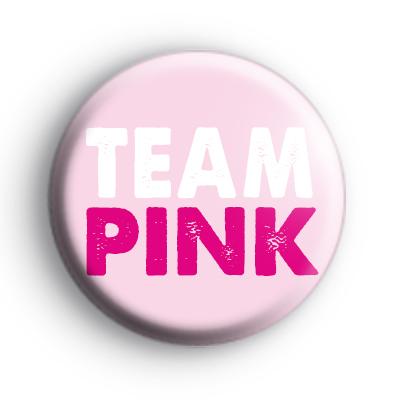 Team Pink Baby Shower Badges