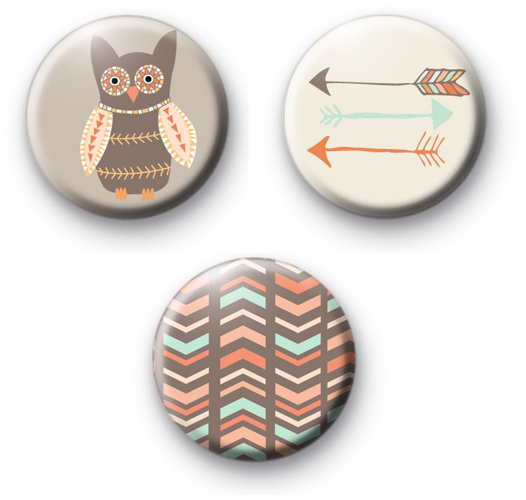 Set of 3 The Great Outdoors Badges