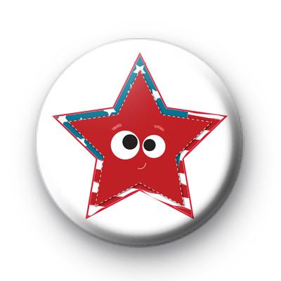 Smiley Face USA Star Badge