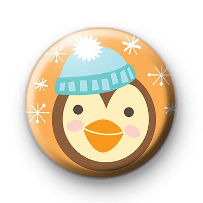 Sweet Festive Penguin Badge