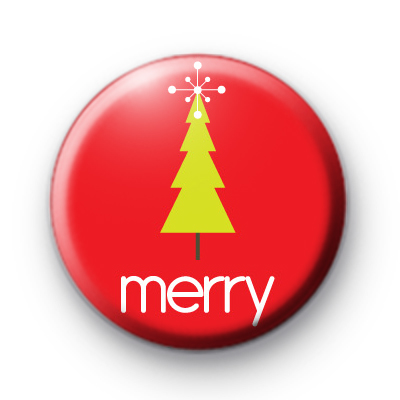 Merry Xmas Tree Badges