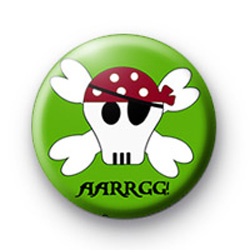 Green Pirate Skull Badge
