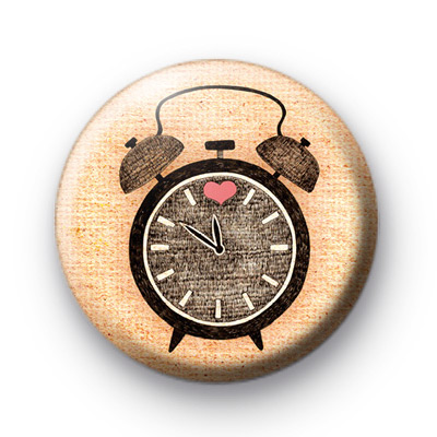 Alarm Clock Button Badges