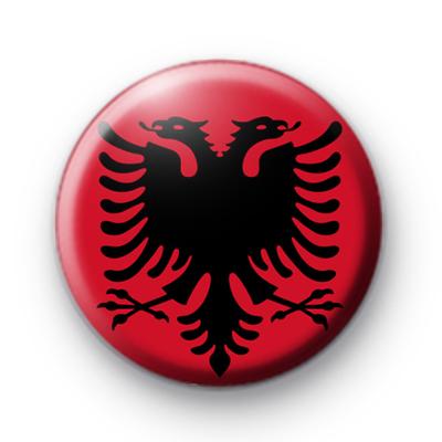 Albanian Flag Button Badge