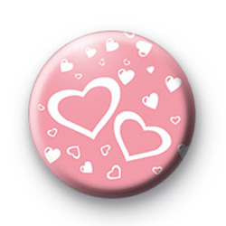 Pink Love Hearts Galore badge