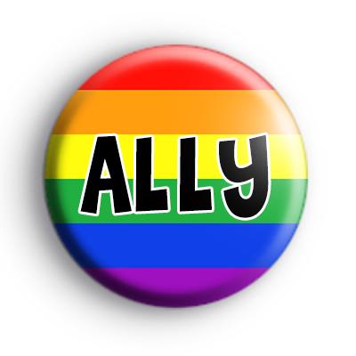 LGBTQ Rainbow Flag Ally Badge