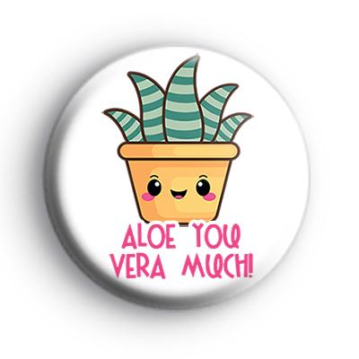 Green Aloe Vera Succulent Badge