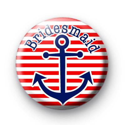 Custom Anchor Bridesmaid Badges