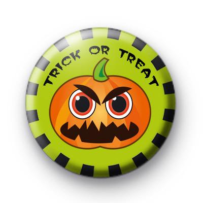 Angry Pumpkin Halloween Badges