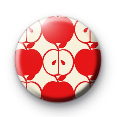 Red Apple Pattern Badge