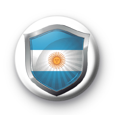 Argentina Flag Crest Badge